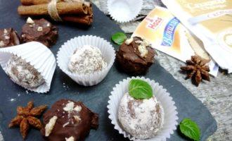 Шоколадно-ореховые конфеты из фасоли