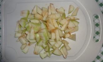 Запеканка из творога с яблоками